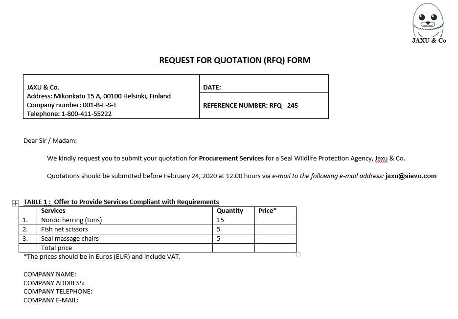 The Simple Request For Quotation Rfq Process For Procurement
