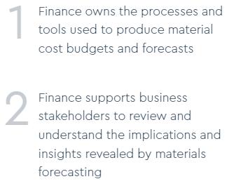 Finance responsibilities 2-fold